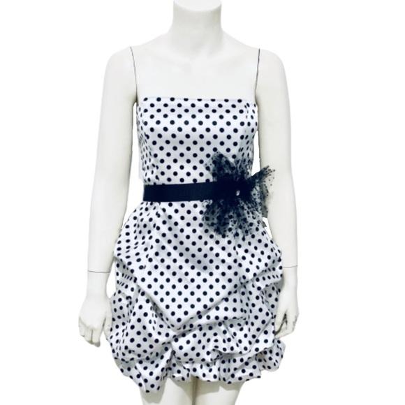 City Triangles Dresses & Skirts - CITY TRIANGLES | Strapless Polka Dot Bubble Dress